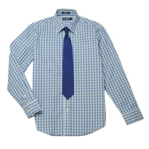 Boys 8-20 Chaps Plaid Shirt & Tie Set