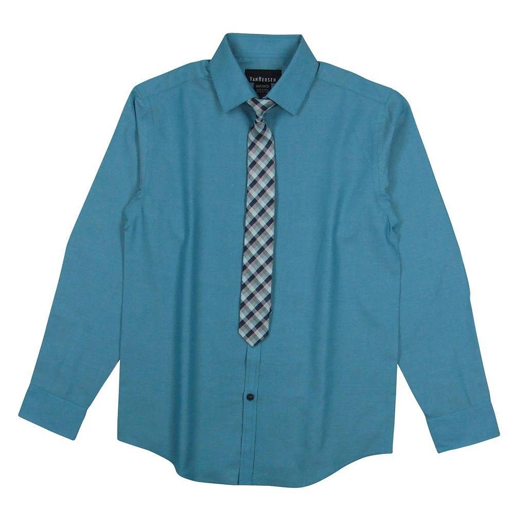Boys 8-20 Van Heusen Iridescent Shirt & Tie Set