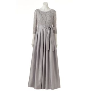 Women's Jessica Howard Pleated Lace Evening Gown