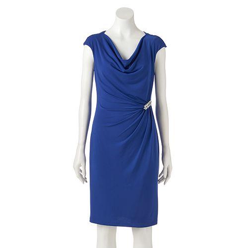 Women's Jessica Howard Draped Sheath Dress