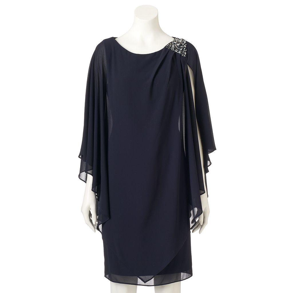 Women's Jessica Howard Pleated Chiffon Popover Dress