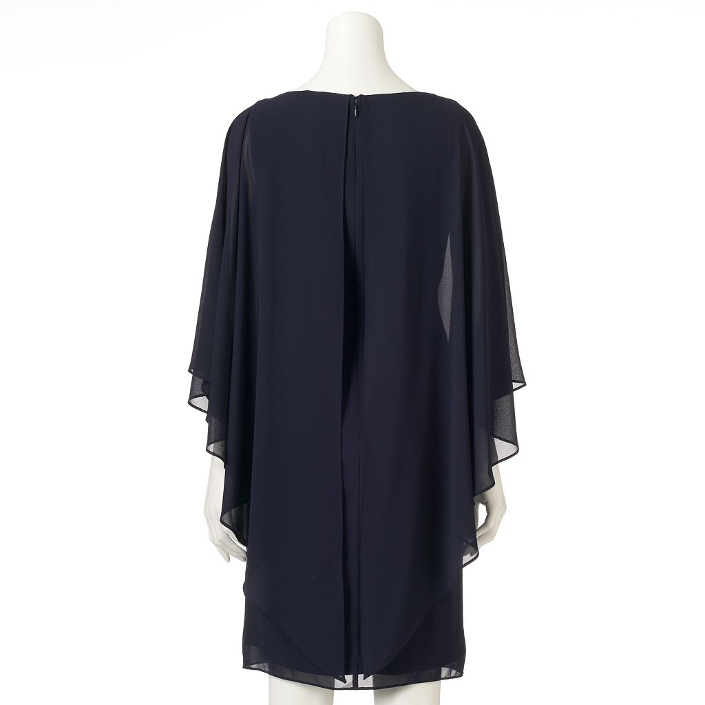 Women's Jessica Howard Pleated Chiffon Popover Dress