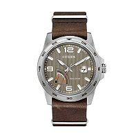 Citizen Eco-Drive Men's PRT Power Reserve Leather Watch - AW7039-01H