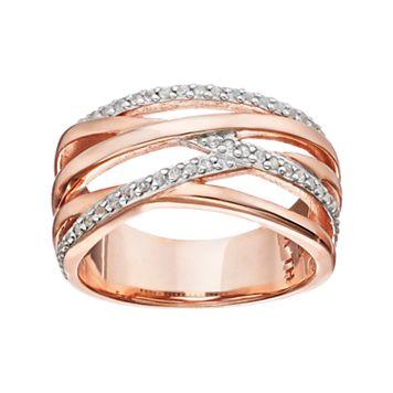 Sterling Silver White Sapphire Crisscross Ring