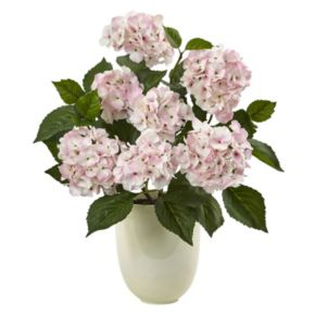 nearly natural Pink Hydrangea Artificial Silk Floral Arrangement