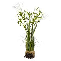 nearly natural Papyrus Plant Artificial Arrangement