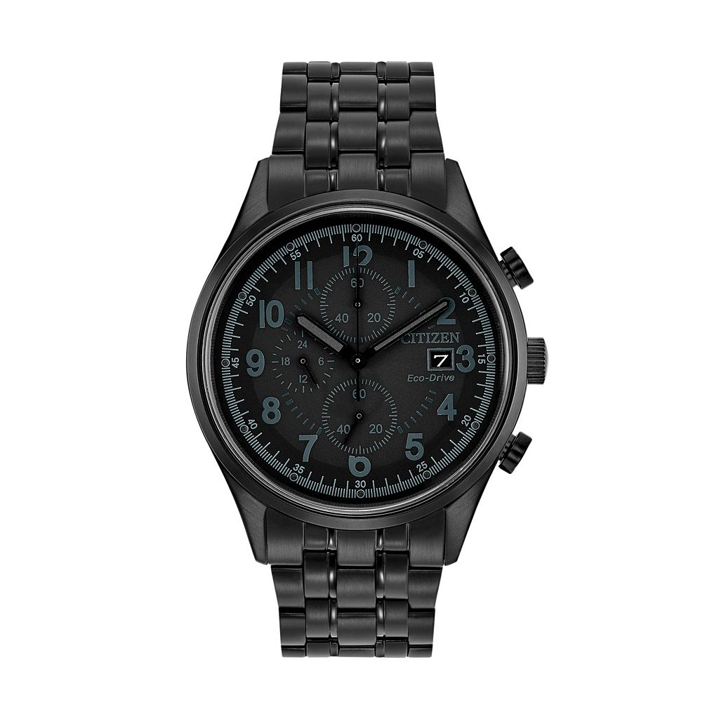 Citizen Eco-Drive Men's Chandler Ion-Plated Stainless Steel Chronograph Watch - CA0625-55E