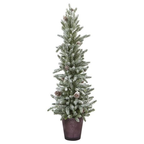 nearly natural Artificial Snowy 21-in. Mini Pine Tree