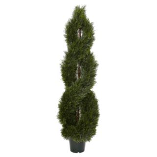 nearly natural Artificial 5-ft. Pond Cypress Spiral Topiary