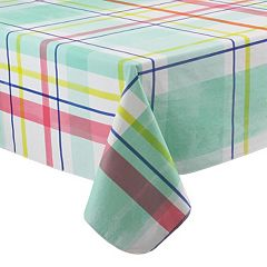 celebrate summer together plaid tablecloth - Kitchen Table Covers Vinyl
