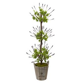nearly natural Artificial 50-in. Lavender Topiary