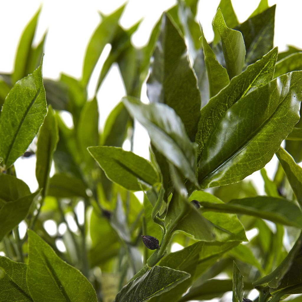 nearly natural Artificial 42-in. Bay Leaf Topiary