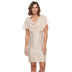 Women's Jessica Howard Glitter Lace Popover Dress