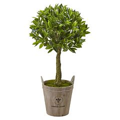 nearly natural Artificial 38-in. Sweet Bay Topiary