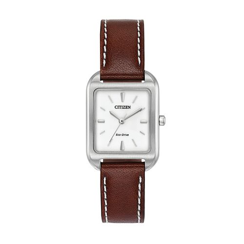 Citizen Eco-Drive Women's Silhouette Leather Watch - EM0490-08A