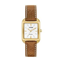 Citizen Eco-Drive Women's Silhouette Leather Watch - EM0492-02A