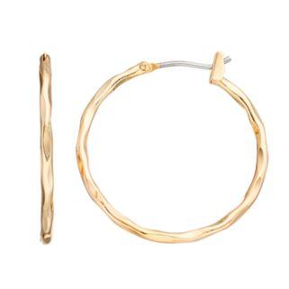 Napier Textured Nickel Free Hoop Earrings