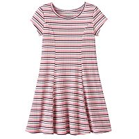 Girls 4-10 Jumping Beans® Striped Ribbed Princess Seam Dress