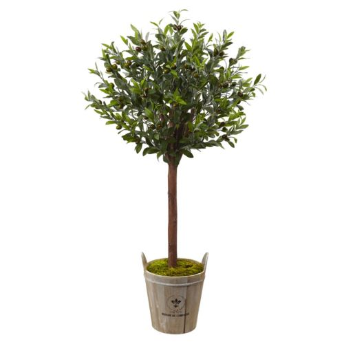 nearly natural Artificial 4.5-ft. Olive Topiary Tree