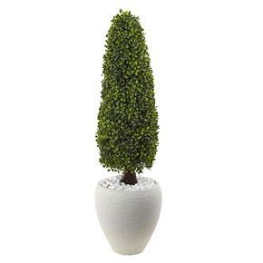 nearly natural Artificial 41-in. Boxwood Topiary