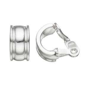 Napier Clip On Nickel Free Half Hoop Earrings