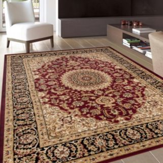 World Rug Gallery Alpine Traditional Framed Floral Rug
