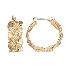 Napier Braided Hoop Earrings