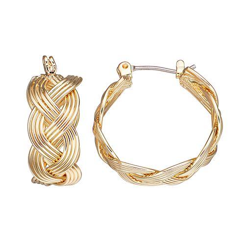 Napier Braided Nickel Free Hoop Earrings