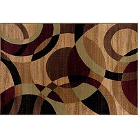 World Rug Gallery Alpine Contemporary Modern Circles Rug