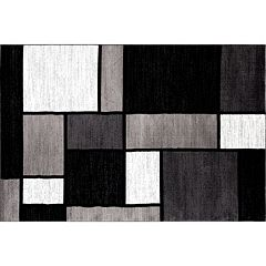 World Rug Gallery Alpine Contemporary Modern Boxes Rug