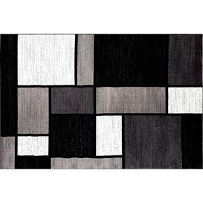 World Rug Gallery Alpine Contemporary Modern Boxes Rug