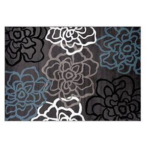 World Rug Gallery Alpine Contemporary Modern Floral Flowers Rug