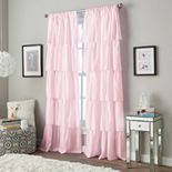 Window Curtainworks 1-Panel Flounced Ruffle Window Curtain
