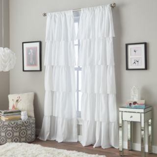 Window Curtainworks 1-Panel Flounced Ruffle Window Curtain