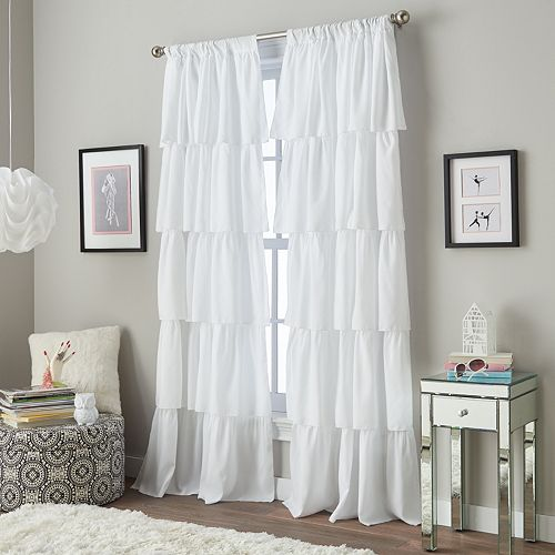 Window Curtainworks Flounced Ruffle Window Curtain