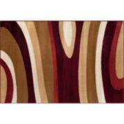World Rug Gallery Alpine Contemporary Modern Waves Rug