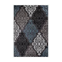 World Rug Gallery Alpine Modern Transitional Soft Damask Rug