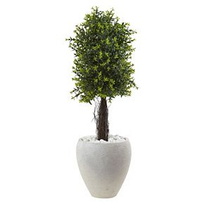 nearly natural Artificial 40-in. Ixora Topiary