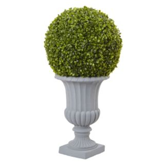 nearly natural Artificial 2.5-ft. Boxwood Topiary