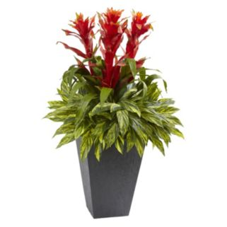 nearly natural Artificial 39-in. Tropical Bromeliad Plant