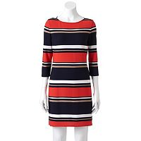 Women's Studio One Striped Sheath Dress