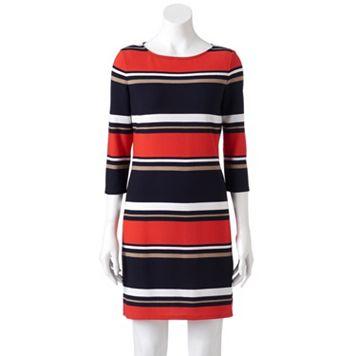 Women's Studio One Striped Sheath Dress