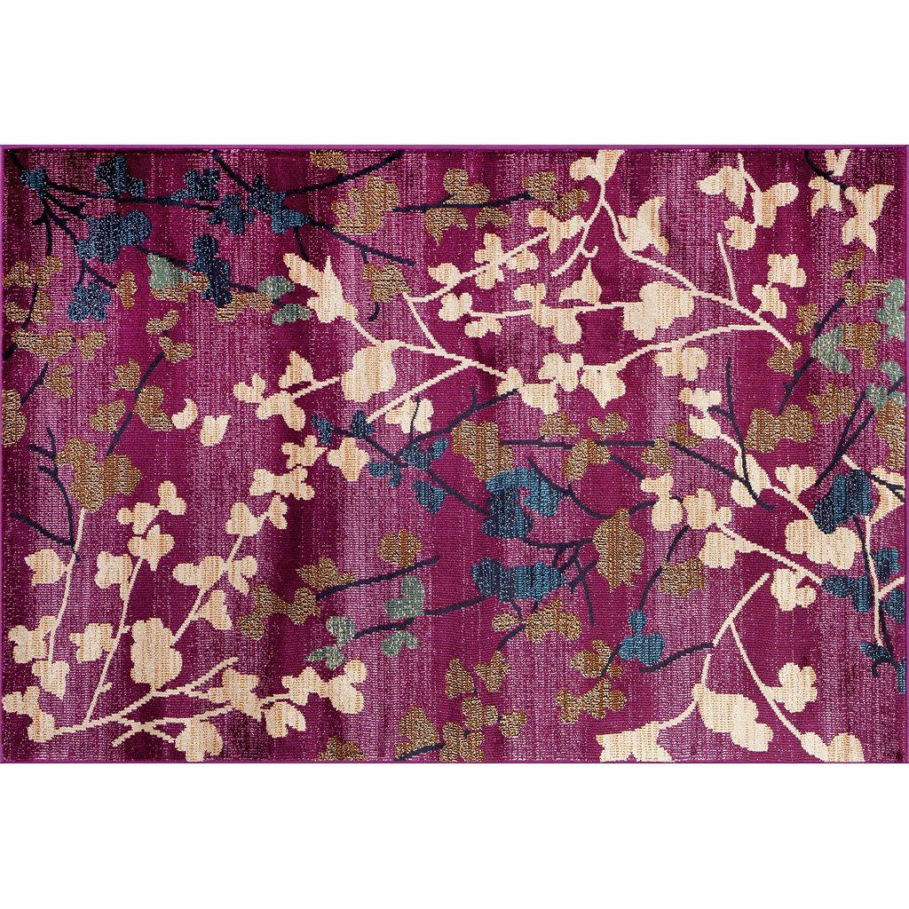 World Rug Gallery Loft Contemporary Floral Rug