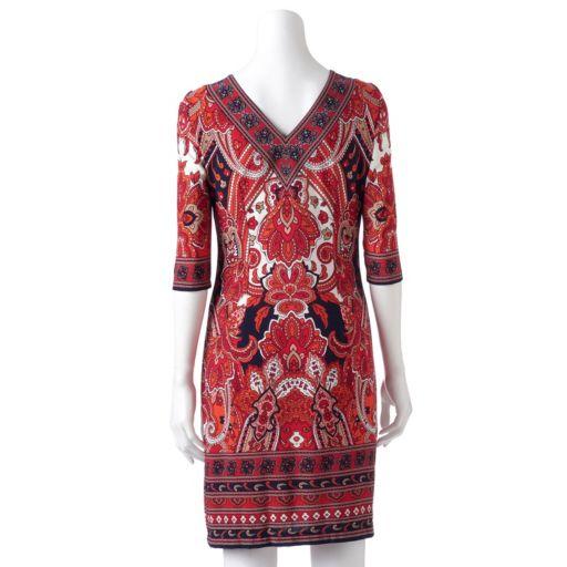 Women's Studio One Medallion Sheath Dress