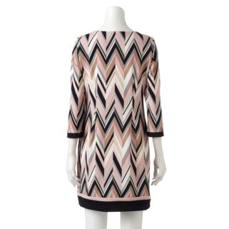 Women's Studio One Textured Chevron Shift Dress