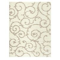World Rug Gallery Florida Cozy Scroll Shag Rug