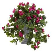 nearly natural 27 in Bougainvillea Flowering Artificial Silk Plant