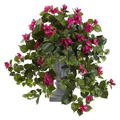 nearly natural 27-in. Bougainvillea Flowering Artificial Silk Plant