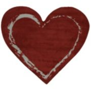 Fun Rugs Fun Time Shape Red Heart Rug - 2'11'' x 3'3''