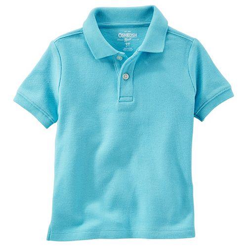 3166ed01 Toddler Boy OshKosh B'gosh® Solid Pique Polo